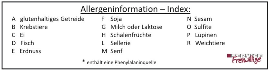 Allergeninformations Index